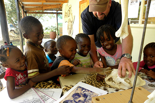 young Namibians learn about wildlife and conservation