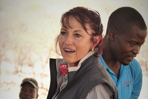 Tammy Hoth Hanssen Founder of The Namibian Lion Trust